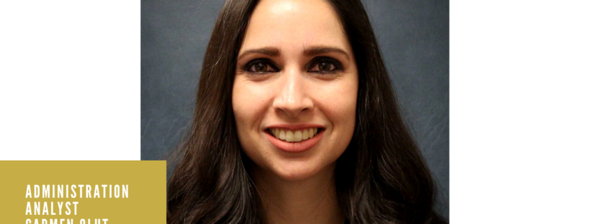 Administrative Analyst Carmen Olut