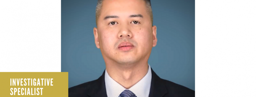 Photo of Investigative Specialist Arnel Alamo for AAPI Heritage Month.
