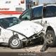 Accidente de auto Fraude de Seguro de Auto Foto de Archivo